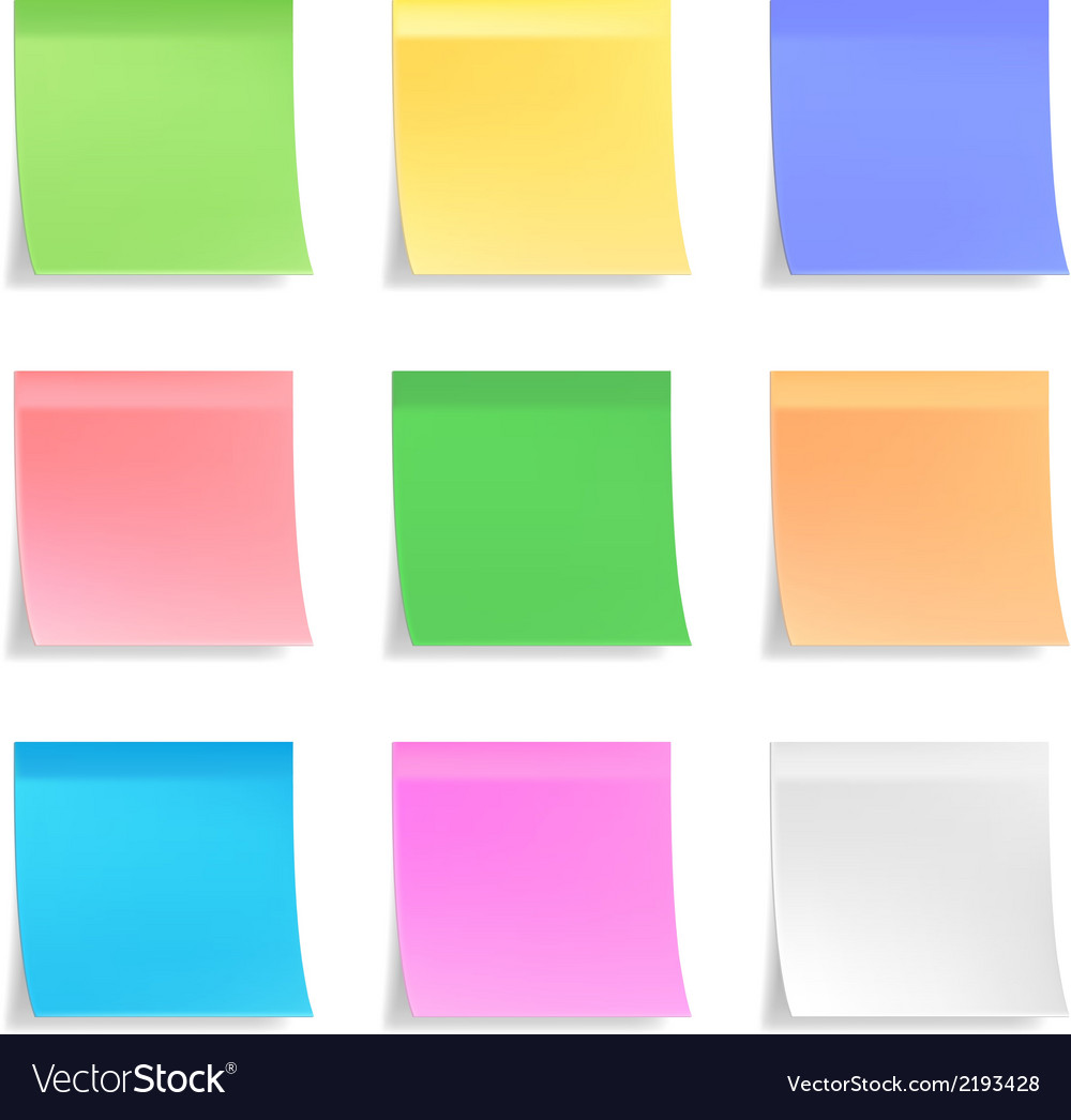 Collection of sticky notes vector | Price: 1 Credit (USD $1)