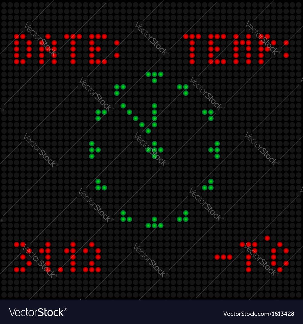 Digital clock vector   Price: 1 Credit (USD $1)