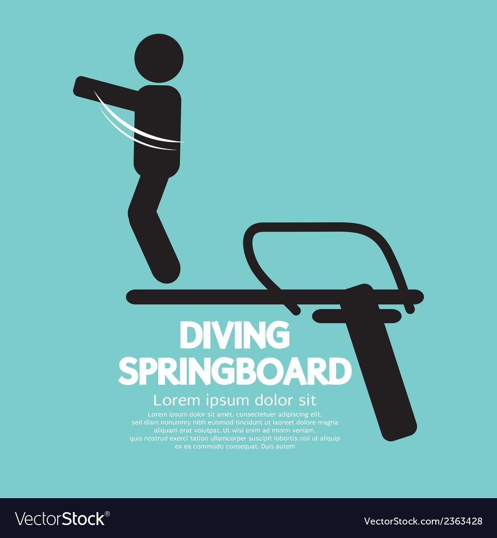 Diving springboard vector | Price: 1 Credit (USD $1)