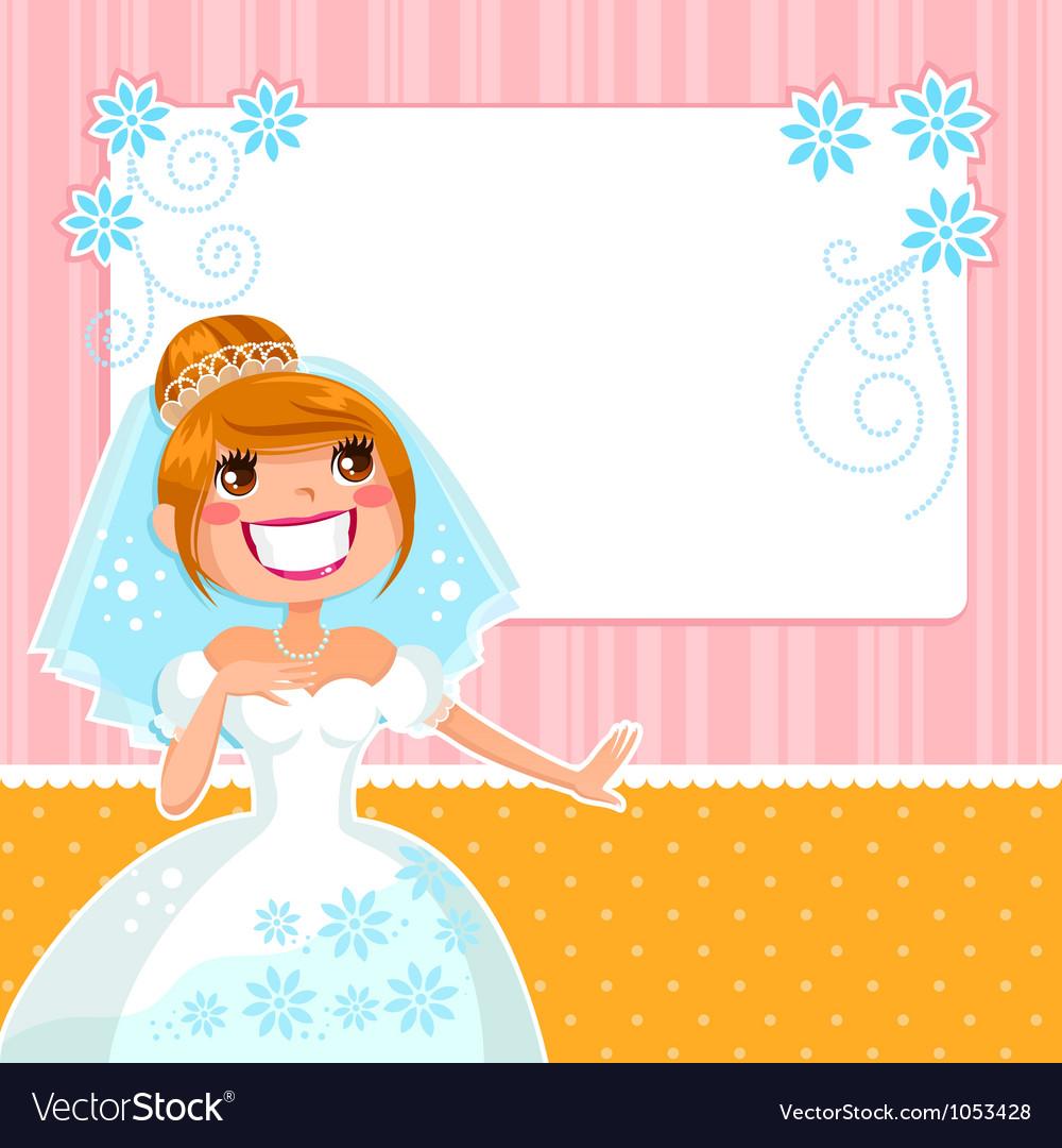 Happy bride vector   Price: 3 Credit (USD $3)