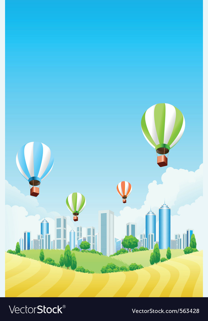 Hot air ballooning vector | Price: 1 Credit (USD $1)