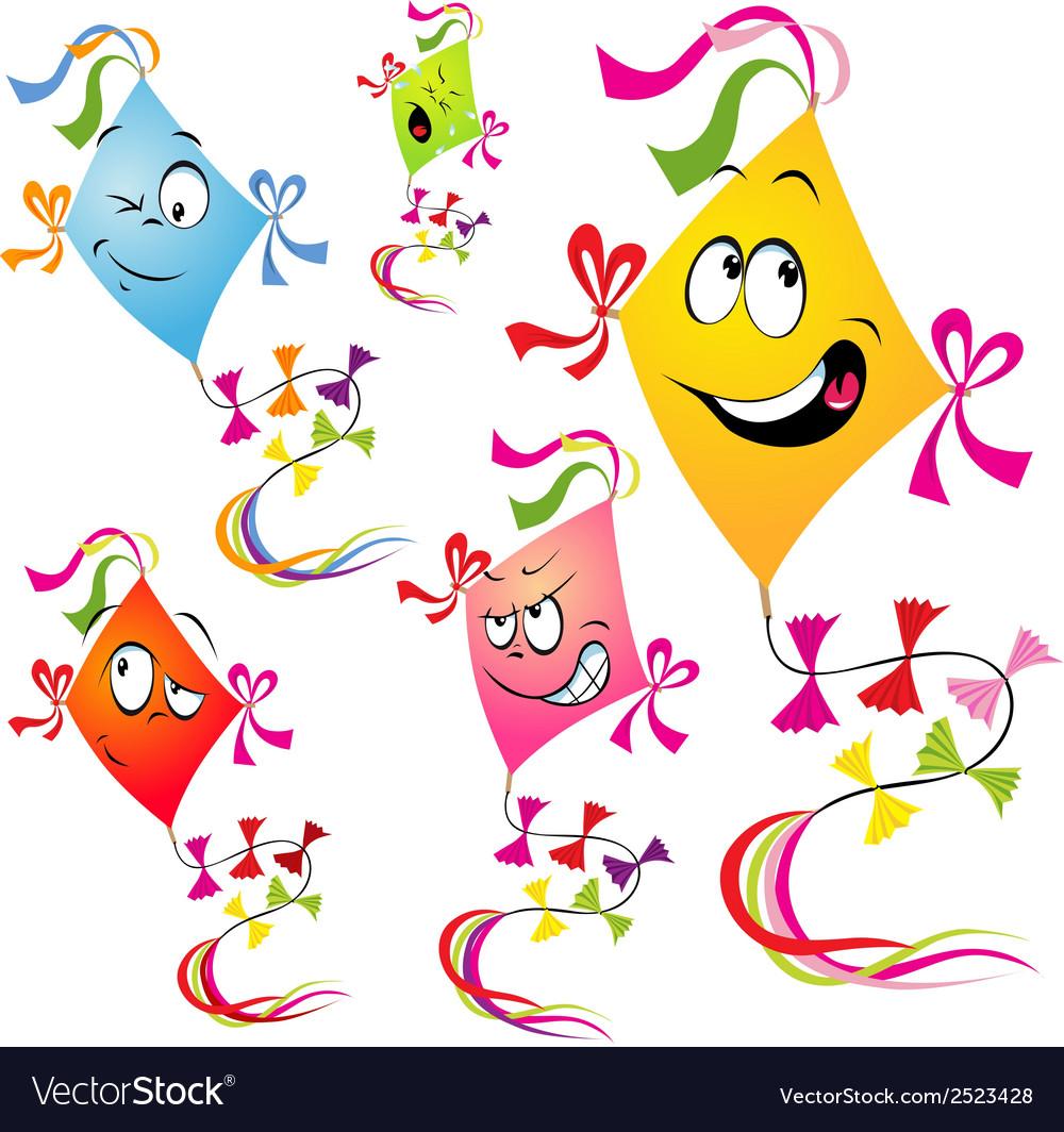 Kites cartoon vector | Price: 1 Credit (USD $1)