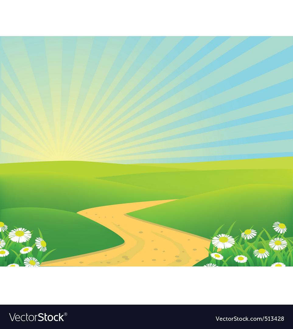 Landscape background vector | Price: 1 Credit (USD $1)