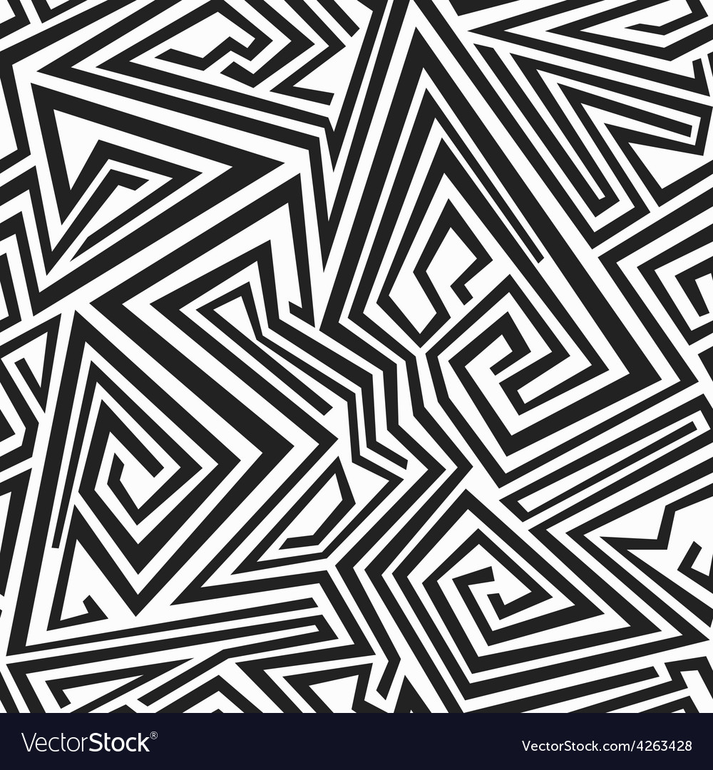 Monochrome spiral lines seamless pattern vector | Price: 1 Credit (USD $1)