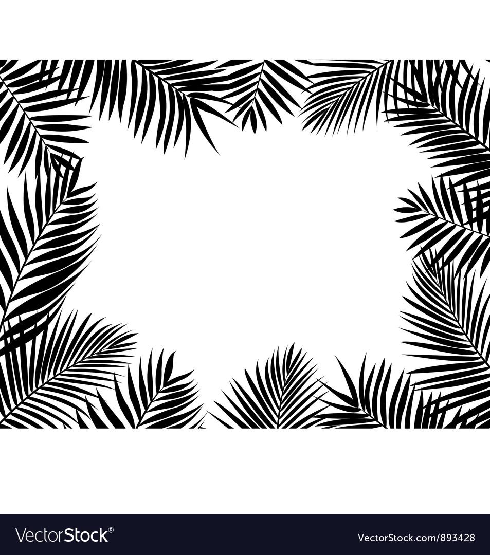 Palm leaf background vector   Price: 1 Credit (USD $1)