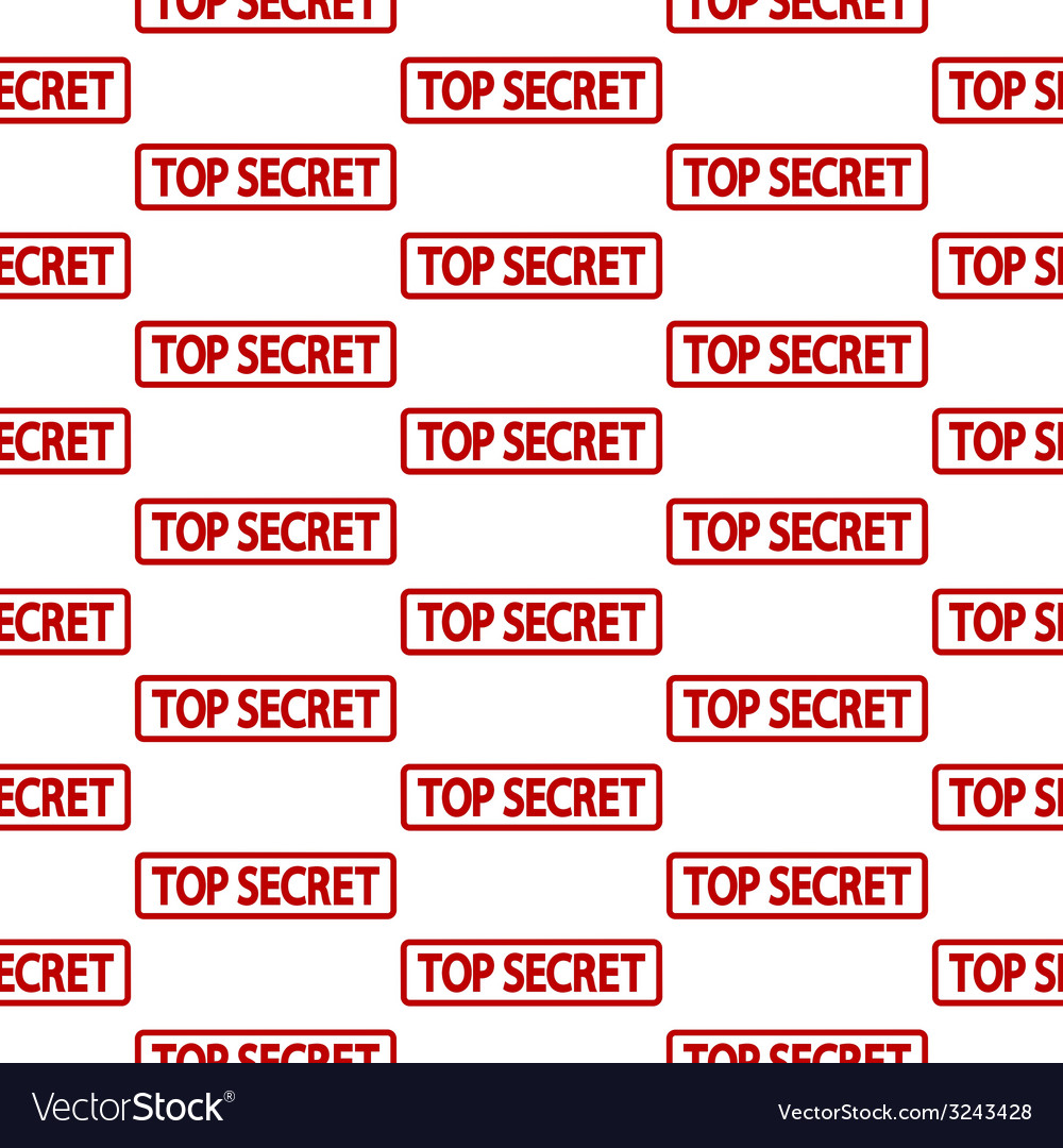 Top secret stamp seamless pattern vector | Price: 1 Credit (USD $1)