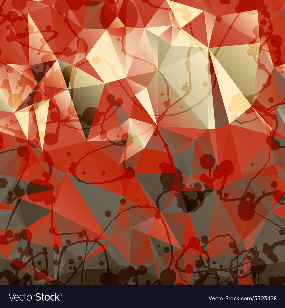 Triangles background with blobs and blots vector | Price: 1 Credit (USD $1)