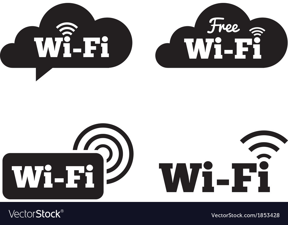 Wifi icons wifi symbols wireless cloud icons vector | Price: 1 Credit (USD $1)