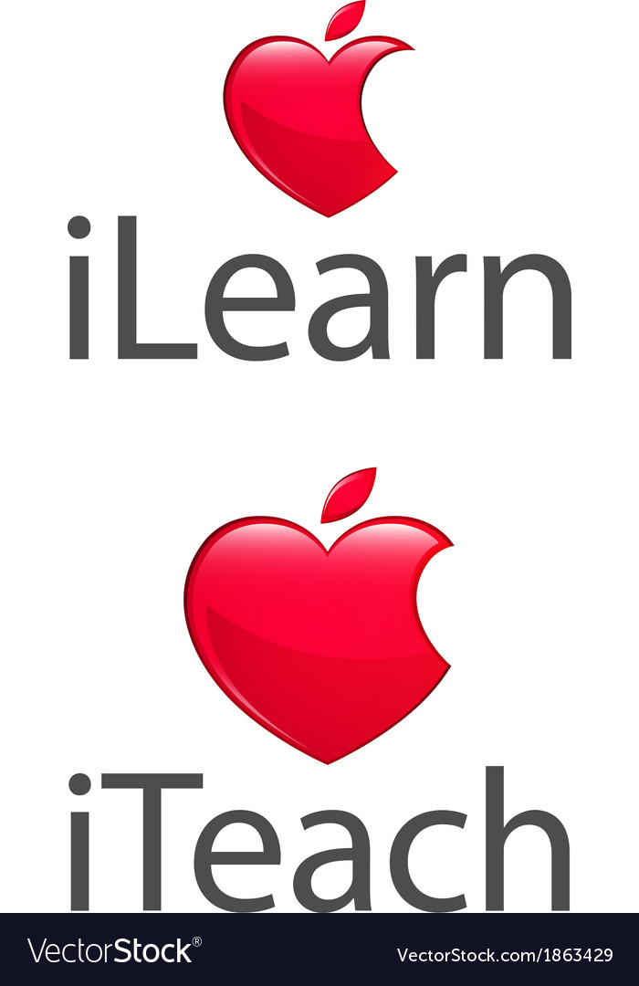 Apple heart teach learn low res vector | Price: 1 Credit (USD $1)