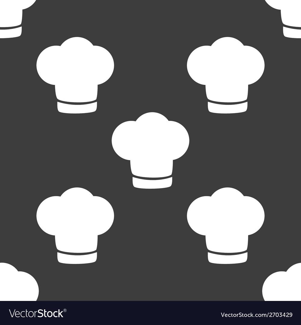 Chef cap web icon flat design seamless gray vector   Price: 1 Credit (USD $1)