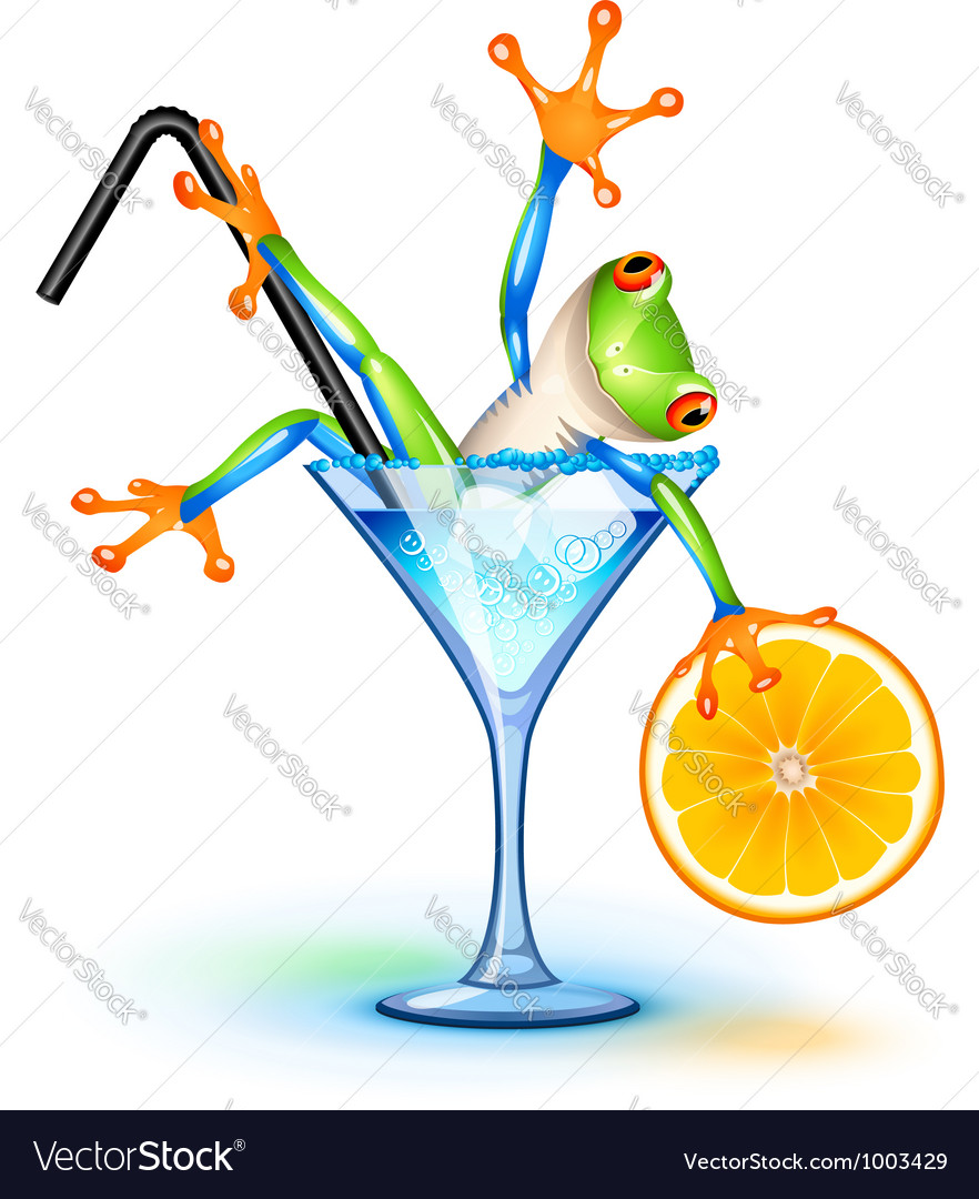 Cocktail frog vector | Price: 3 Credit (USD $3)