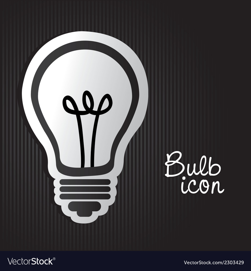 Label light bulb on bottom lines vector | Price: 1 Credit (USD $1)