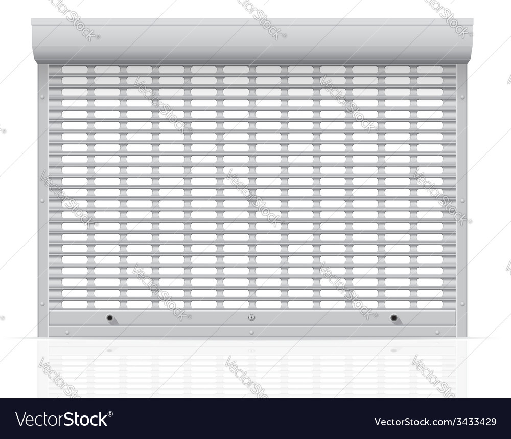 Metal perforated rolling shutters 05 vector | Price: 1 Credit (USD $1)