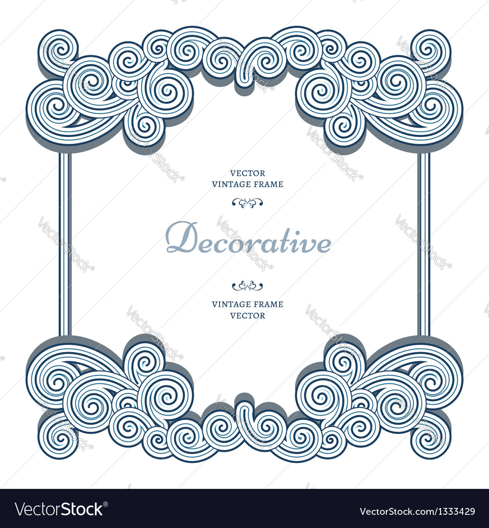 Ornamental frame vector | Price: 1 Credit (USD $1)