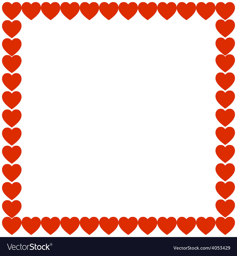 Red heart holiday gift background frame vector | Price: 1 Credit (USD $1)