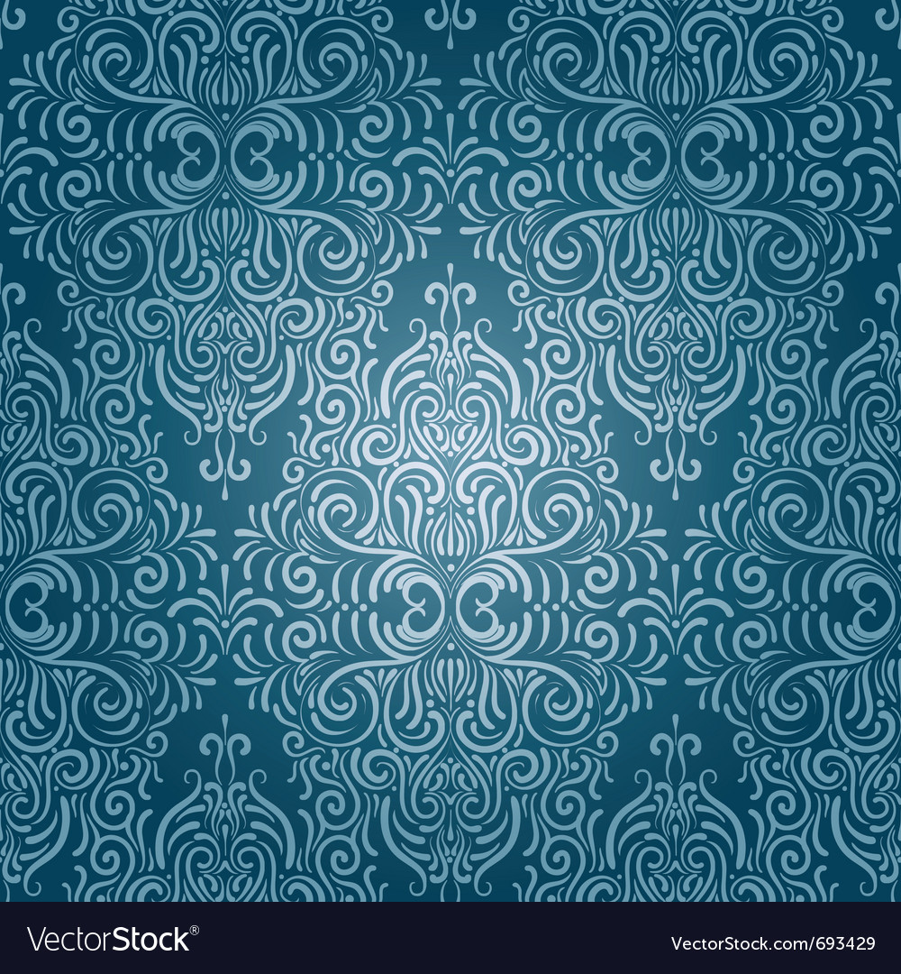 Seamless vintage wallpaper vector | Price: 1 Credit (USD $1)