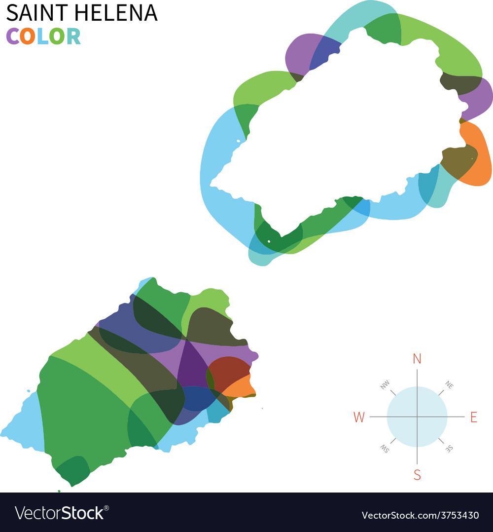 Abstract color map of saint helena vector | Price: 1 Credit (USD $1)
