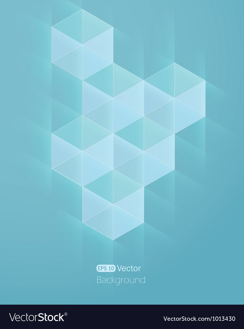 Abstract light blue beckground with cube vector | Price: 1 Credit (USD $1)