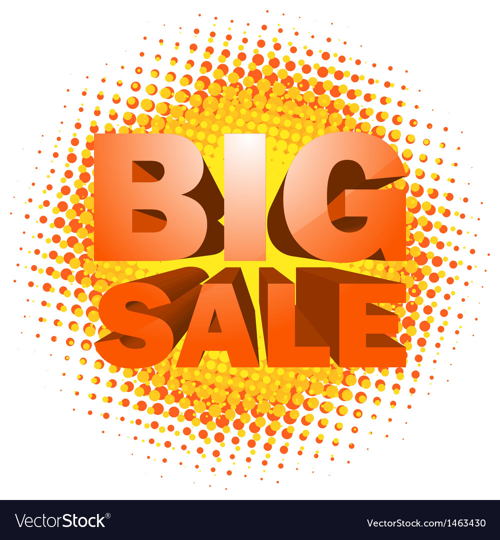 Big sale text on halftone pattern vector | Price: 1 Credit (USD $1)