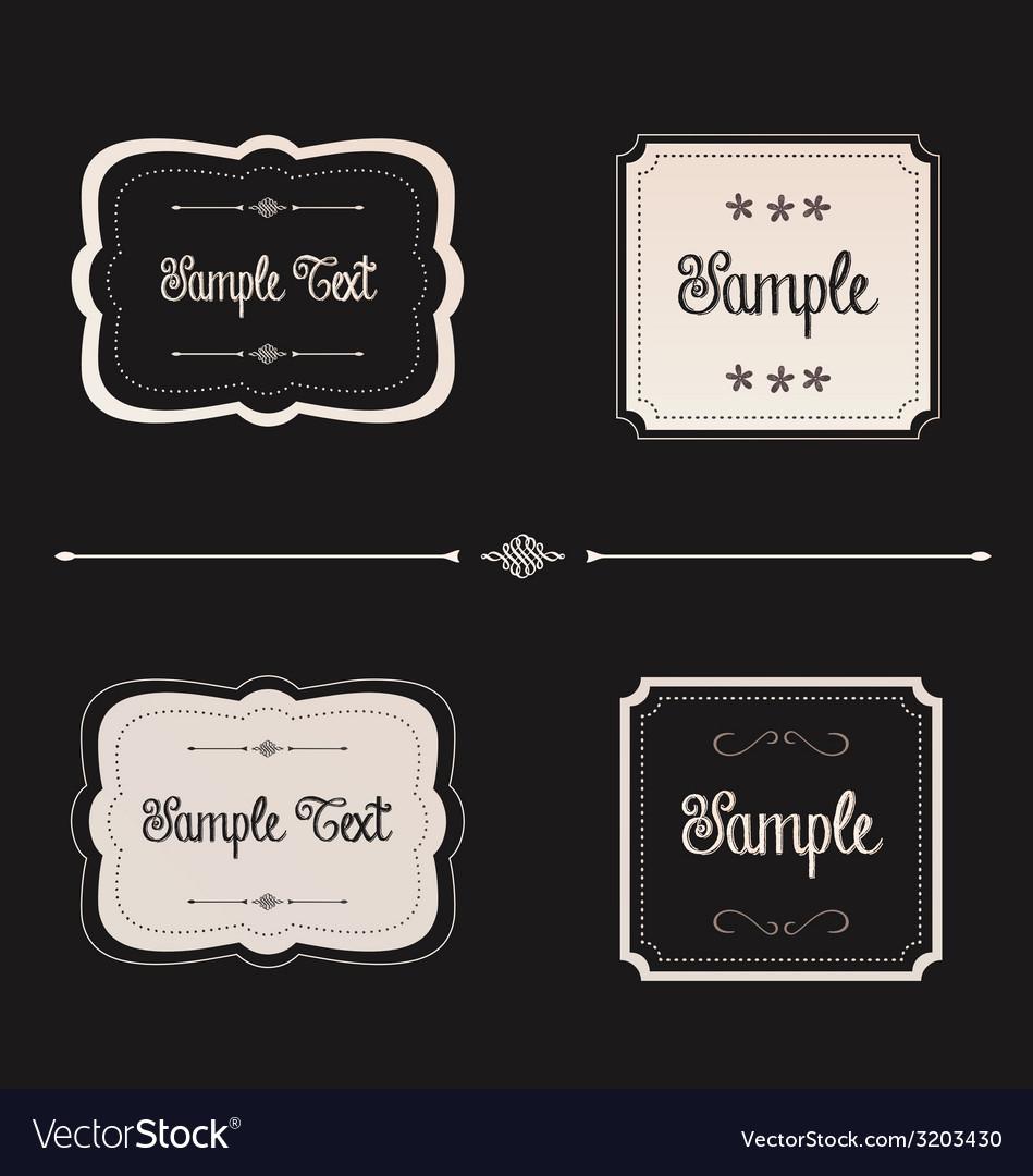 Blackboard frames preview vector | Price: 1 Credit (USD $1)