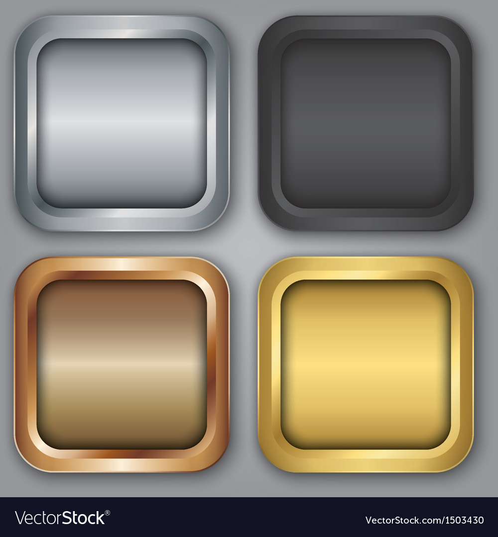 Blank app icons set vector | Price: 1 Credit (USD $1)