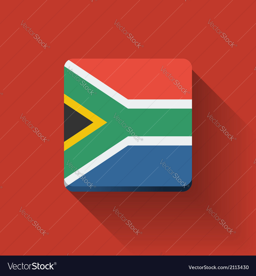 Button with flag of south africa vector | Price: 1 Credit (USD $1)
