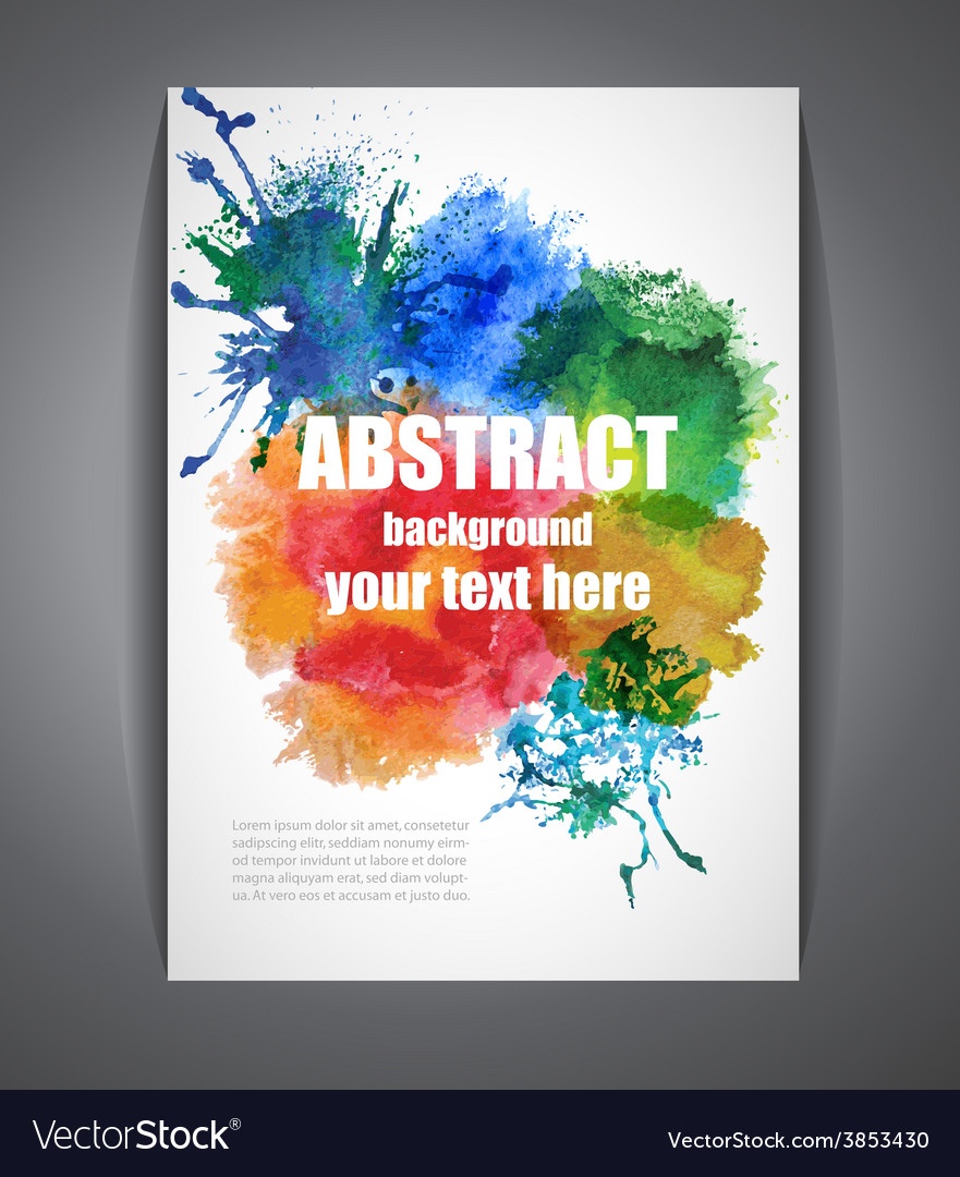 Colorful background with watercolor effect vector | Price: 1 Credit (USD $1)