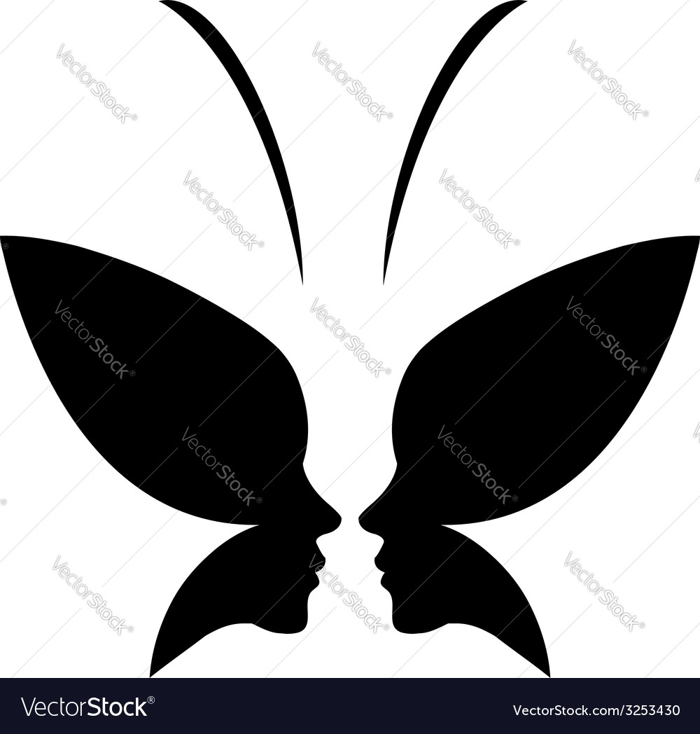 Face of a lady and butterfly- logo concept for spa vector | Price: 1 Credit (USD $1)