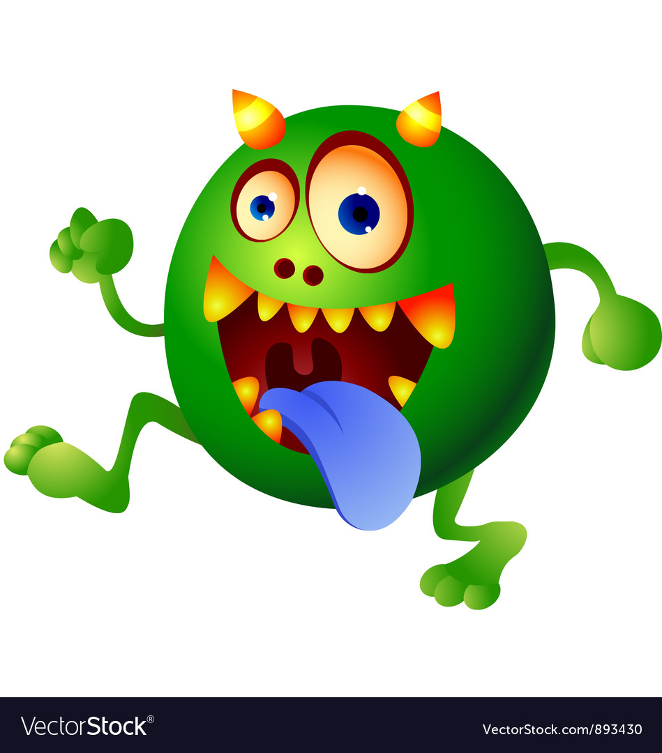 Germ monster vector | Price: 3 Credit (USD $3)