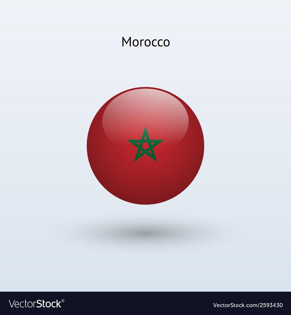 Morocco round flag vector | Price: 1 Credit (USD $1)