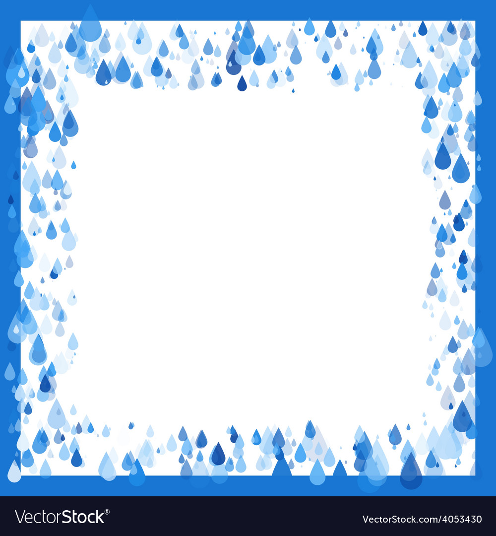 Raindrops natural background frame vector | Price: 1 Credit (USD $1)