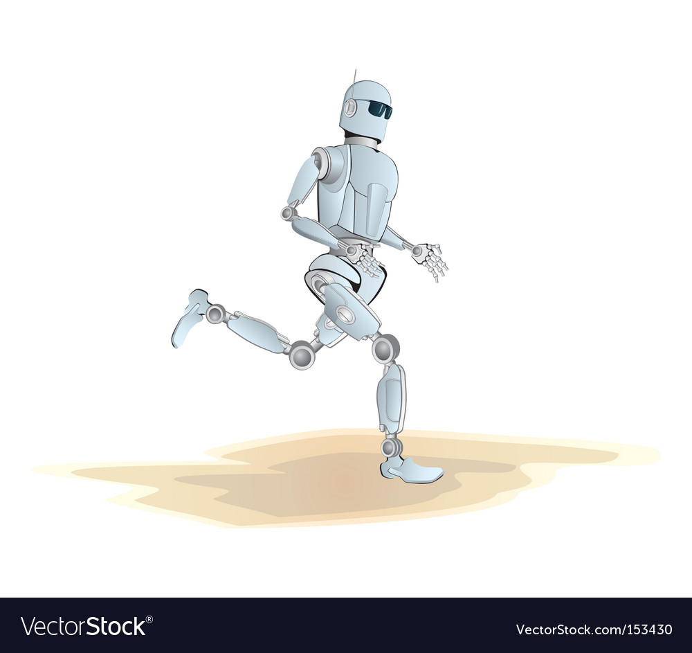 Robot jogging vector | Price: 1 Credit (USD $1)
