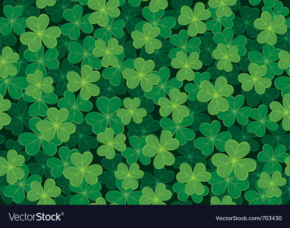 Seamless clover pattern vector | Price: 1 Credit (USD $1)