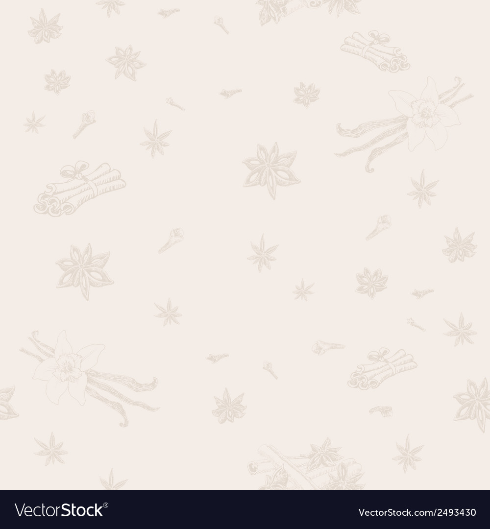 Seamless pattern with spices vector   Price: 1 Credit (USD $1)