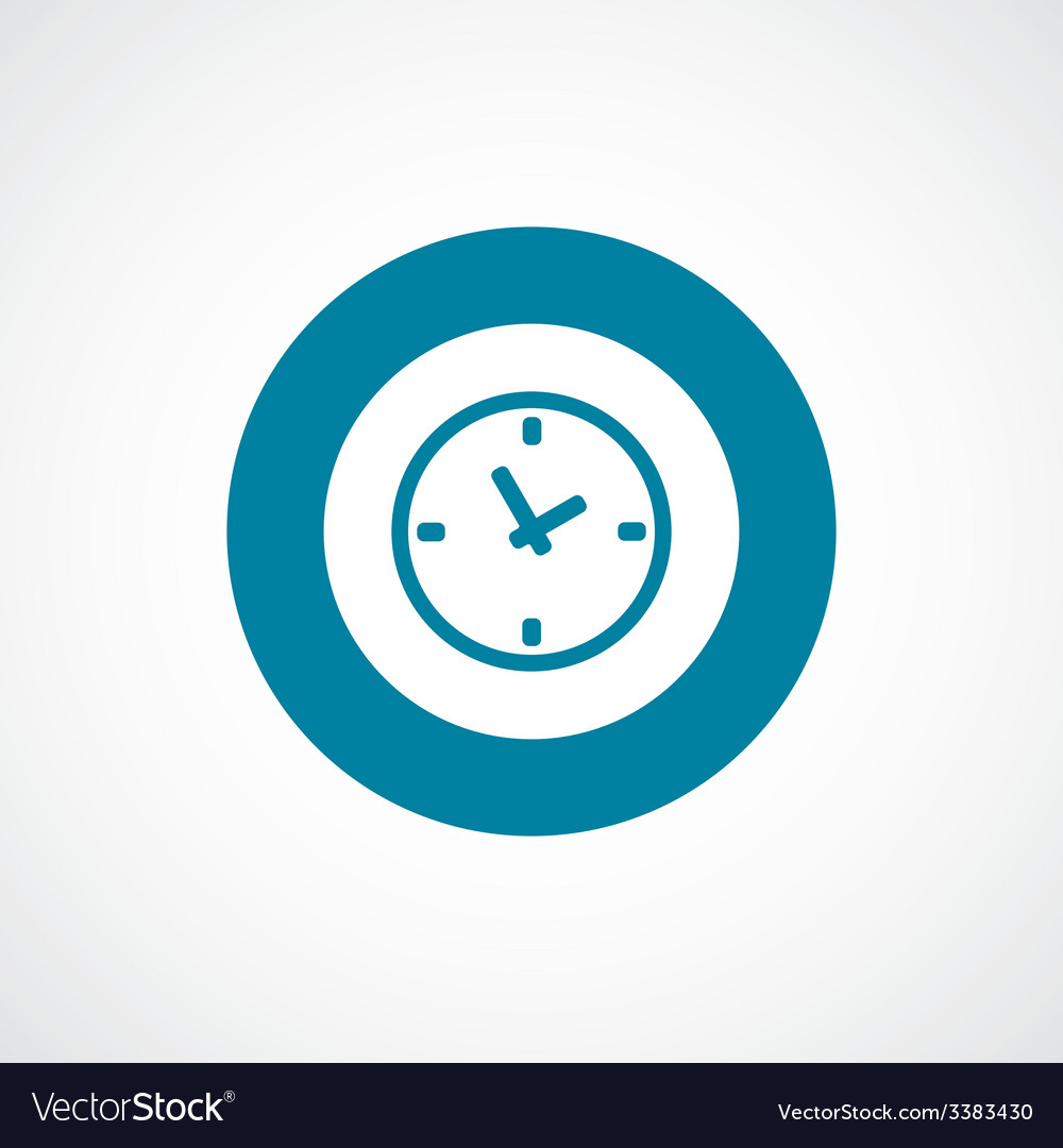 Time bold blue border circle icon vector | Price: 1 Credit (USD $1)