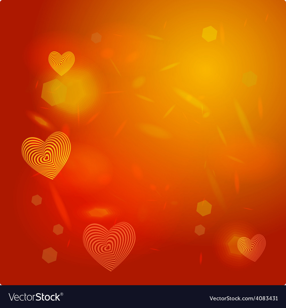 Abstract red background light glare heart vector | Price: 1 Credit (USD $1)