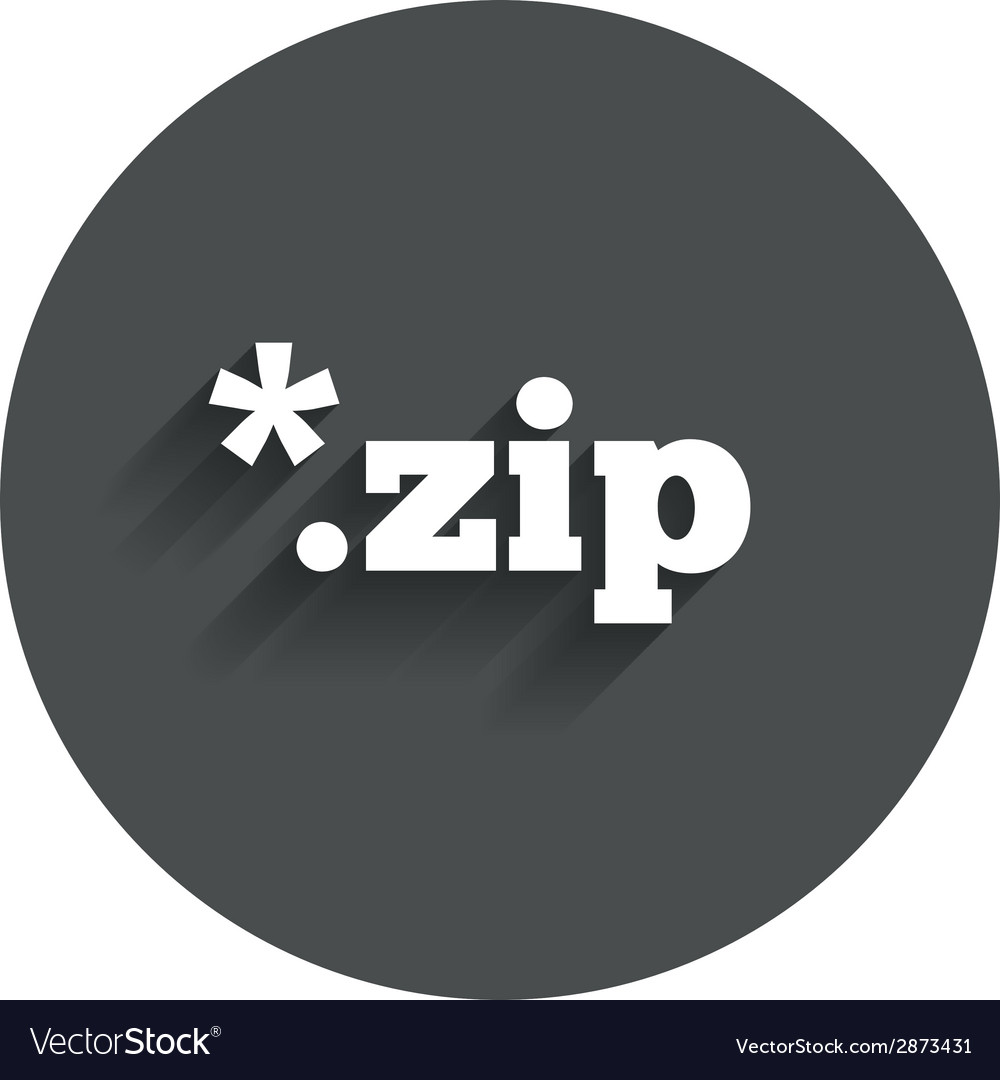 Archive file icon download zip button vector | Price: 1 Credit (USD $1)