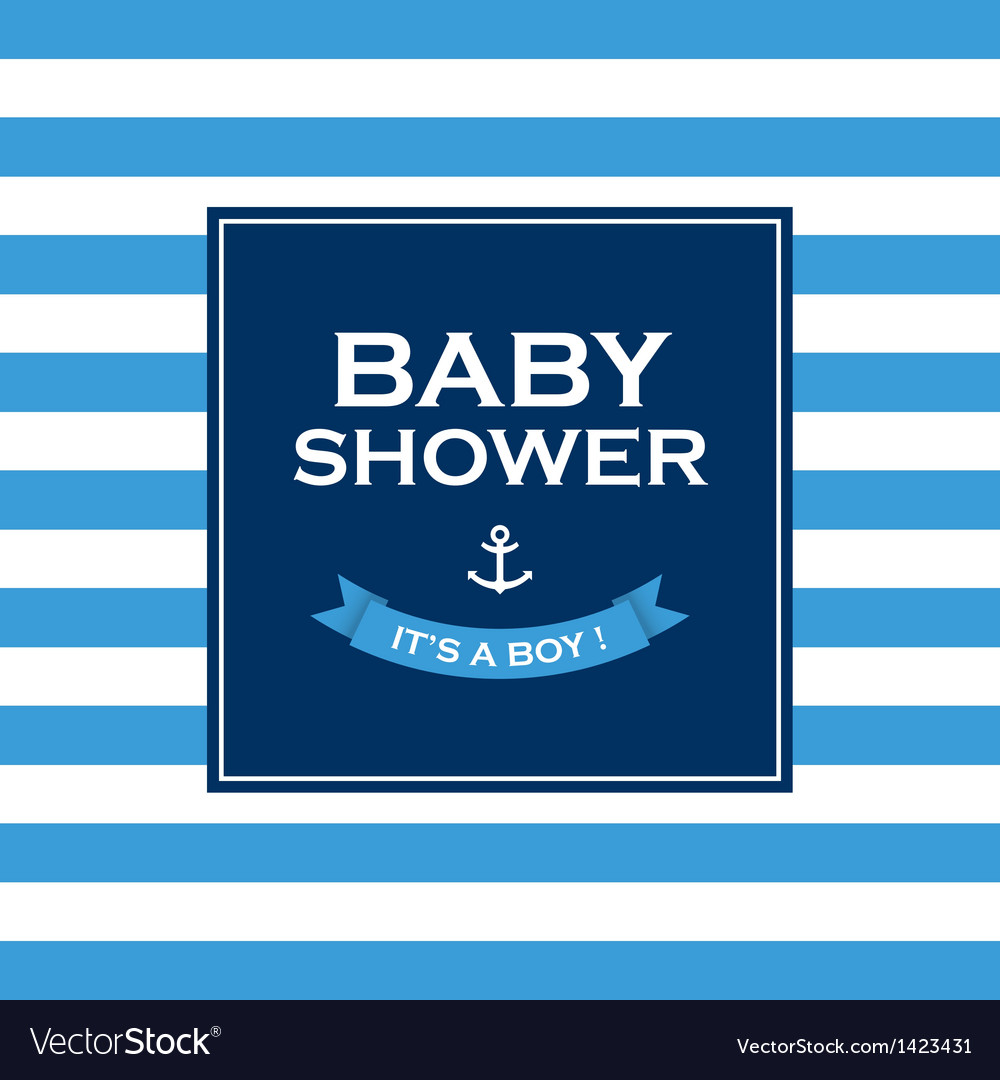 Baby shower boy vector | Price: 1 Credit (USD $1)