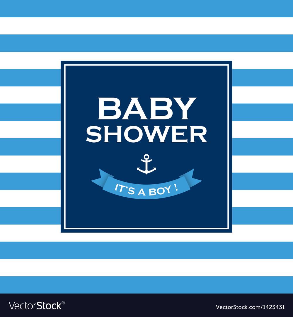 Baby shower boy vector | Price: 1 Credit (USD $1)