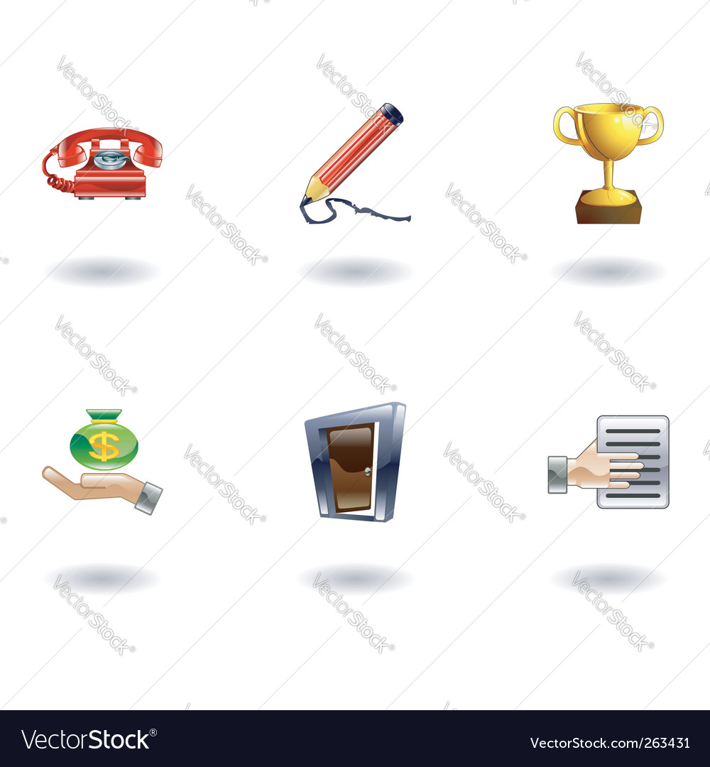 Business icons set vector | Price: 1 Credit (USD $1)