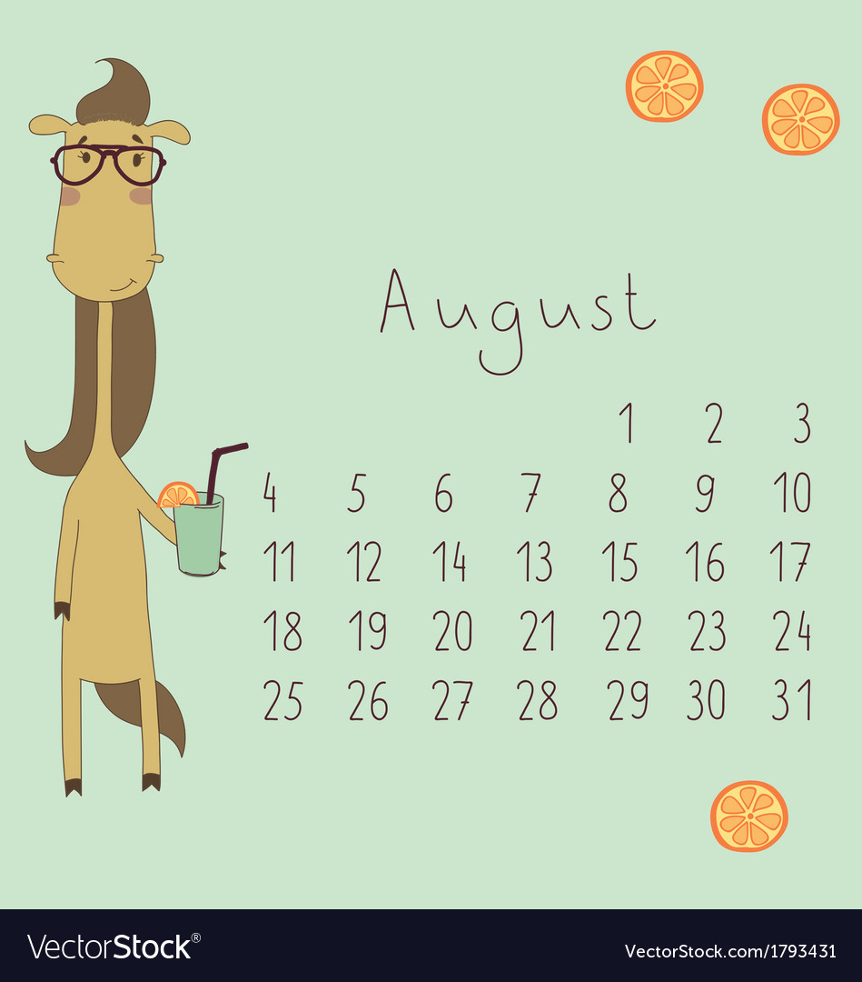 Calendar for august 2014 vector | Price: 1 Credit (USD $1)