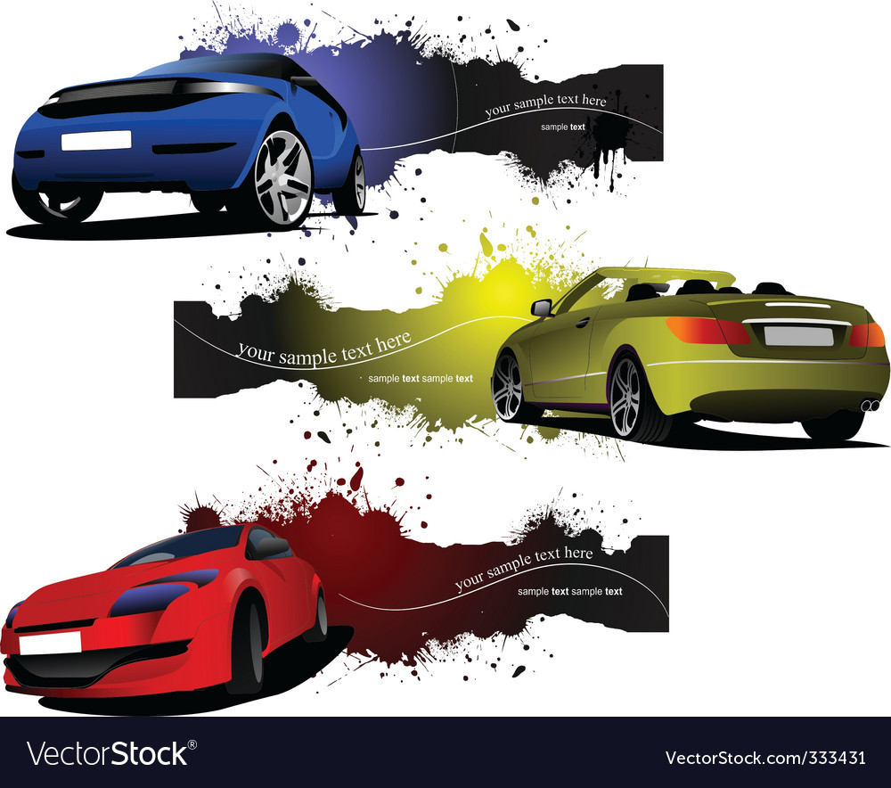 Car banners vector | Price: 1 Credit (USD $1)