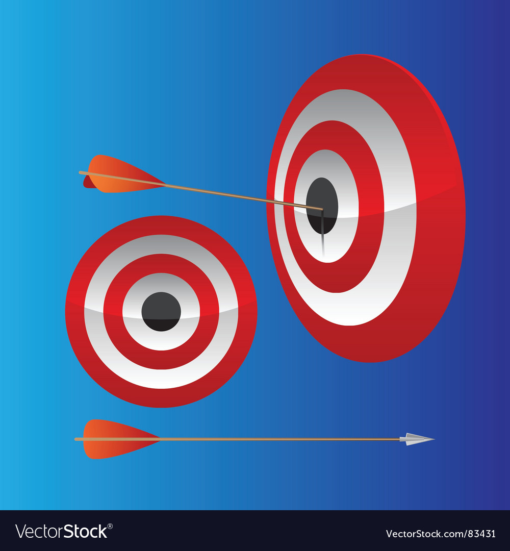 Dart hitting target vector | Price: 1 Credit (USD $1)