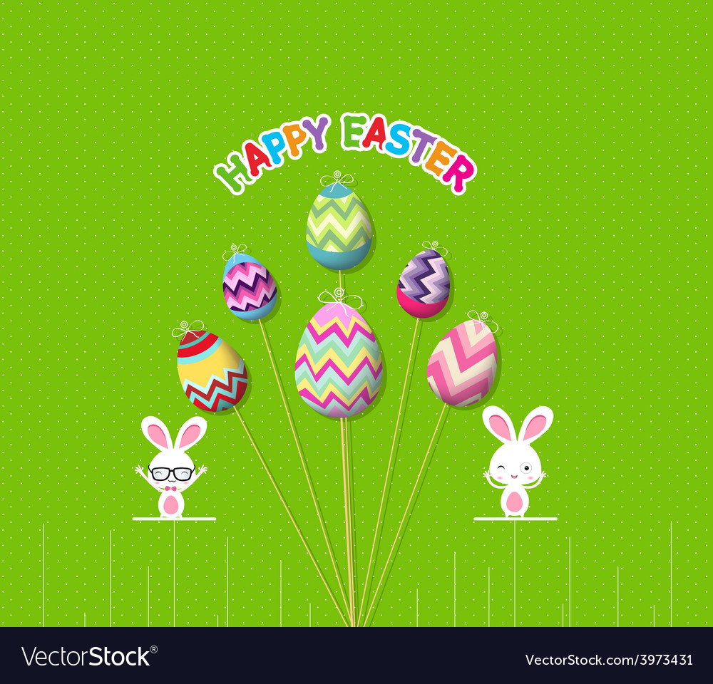 Easter eggs props card vector | Price: 1 Credit (USD $1)