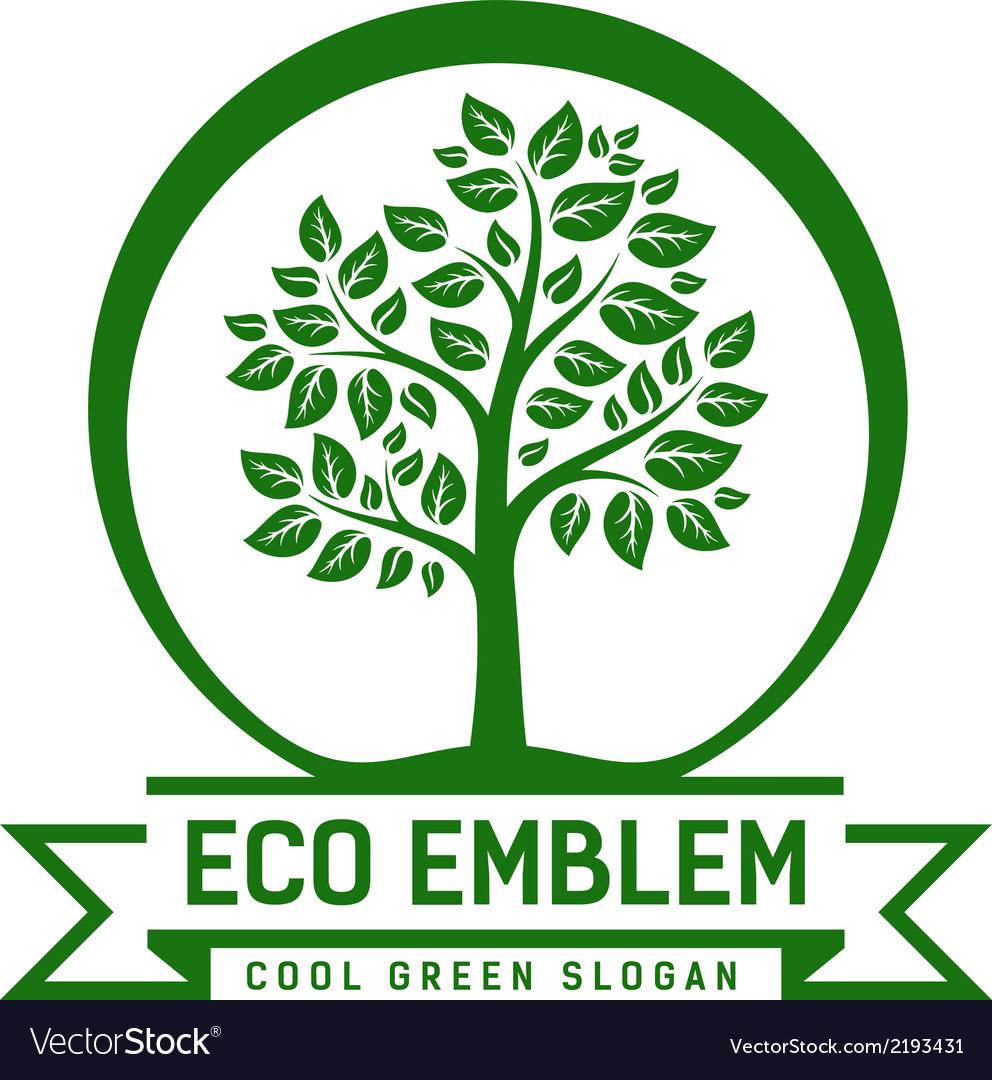 Eco emblem vector | Price: 1 Credit (USD $1)