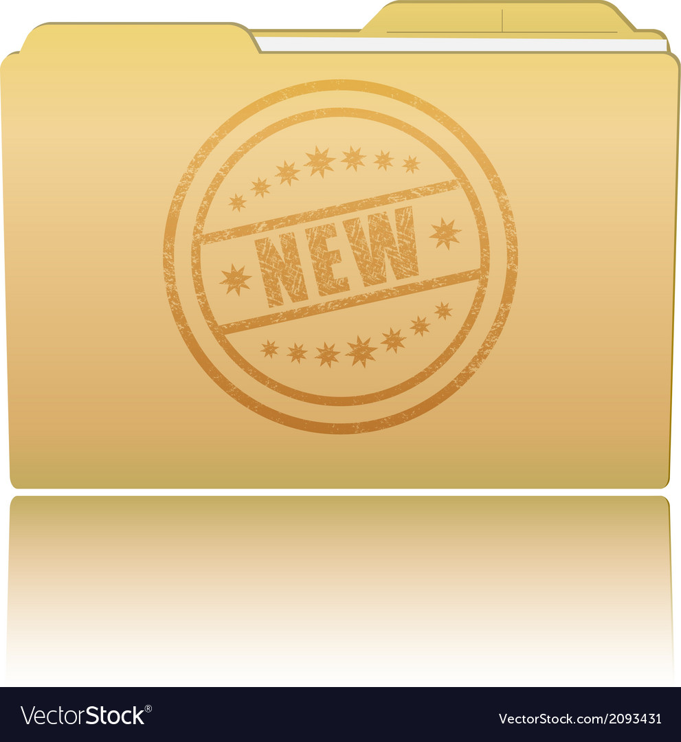 Folder with new damaged stamp vector | Price: 1 Credit (USD $1)