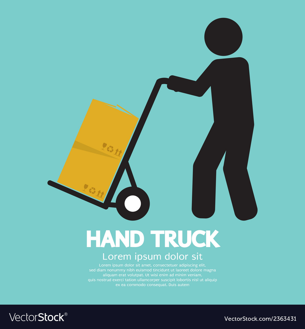 Hand truck vector | Price: 1 Credit (USD $1)