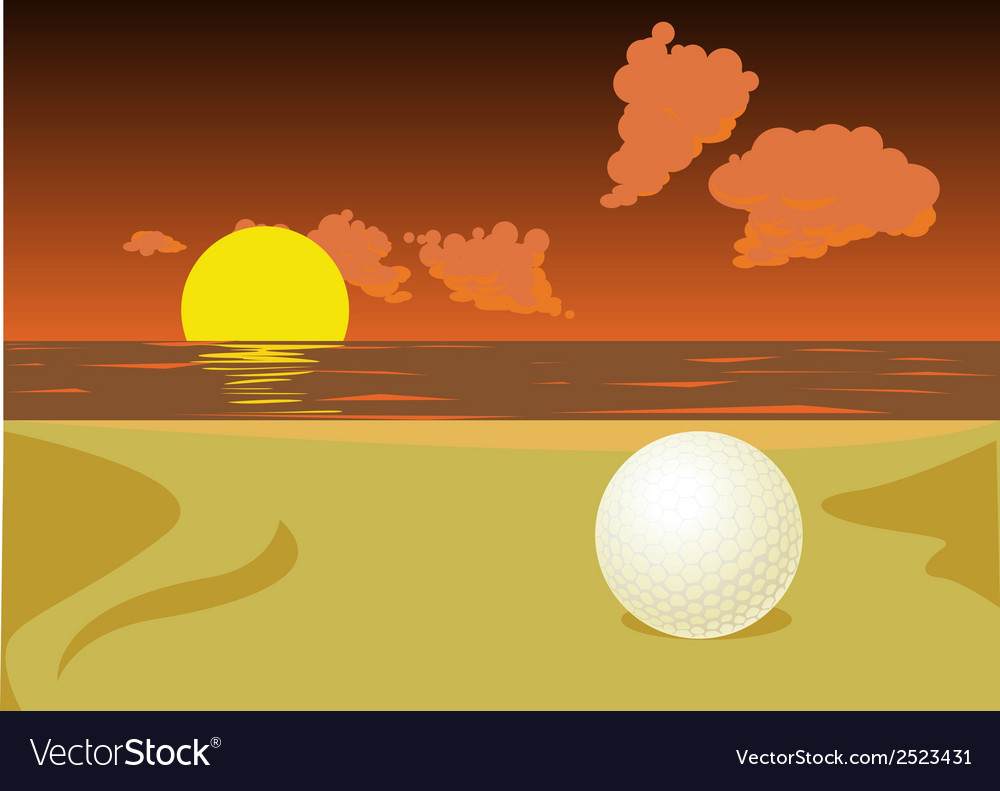Lost golf ball vector | Price: 1 Credit (USD $1)