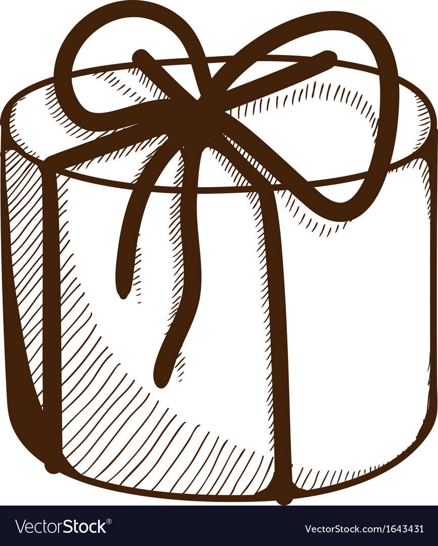 Present box with ribbon and bow vector | Price: 1 Credit (USD $1)
