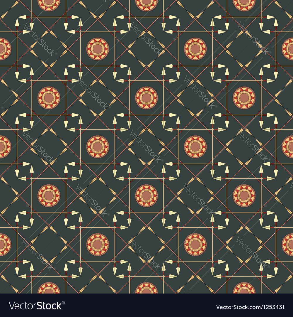 Seamless geometric pattern with arrows and spears vector | Price: 1 Credit (USD $1)
